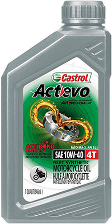 Castrol 06130 Actevo 10W-40 4T Oil for Motorcycle