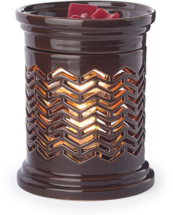 Candle Warmers Etc. Chevron Illumination Candle Wax Warmer