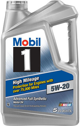 Mobil 1 High Mileage 5W-20 Motor Oil 120768