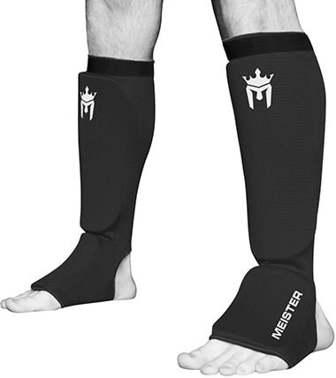 Meister MMA Elastic Cloth Shin Padded Guards