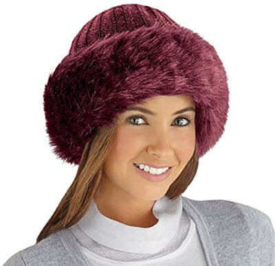 Collections Etc Faux Fur Fashion Hat