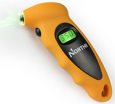 NorthONE 100 PSI Digital Tire Pressure Gauge
