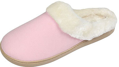 Luxehome Cozy Fleece House Slippers for Women