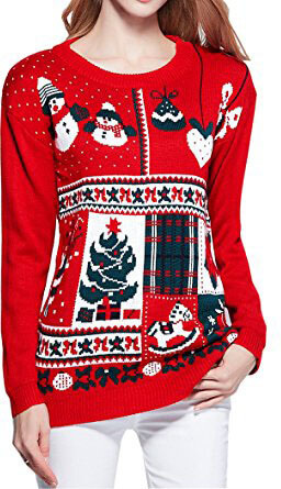 V28 Ugly Ladies Girl Junior Reindeer Sweater