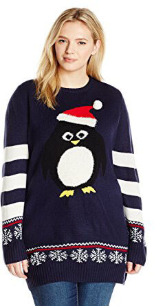 Blizzard Bay Penguin Santa Ugly Christmas Sweater