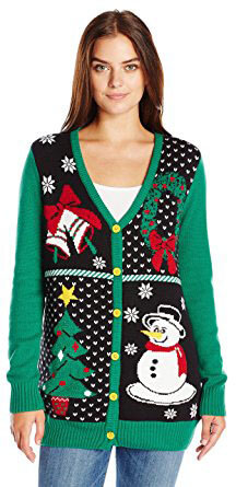 Ugly Christmas Sweater Button-Front Cardigan