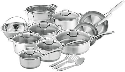 Chef's Star Professional Grade Stainless Steel Pots and Pans Set