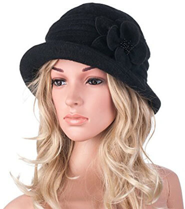 GATSBY 1920s Winter Wool Cap A299 Beret Beanie Cloche Bucket Hat