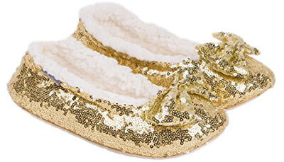 MiYang Ballerina Metallic Sequin Slippers