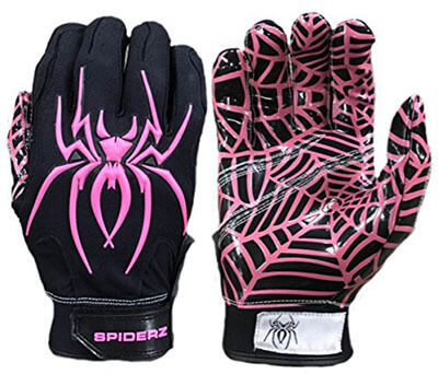 Spiderz Adult and Youth Sizes Football Receiver Gloves