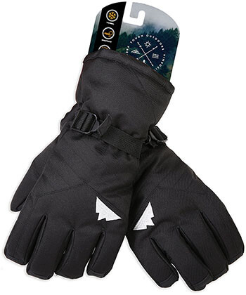 Tough Outdoors Men, Women, and Kids Winter Ski Gloves