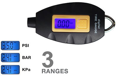 Tricess Keychain Digital Tire Pressure Gauge