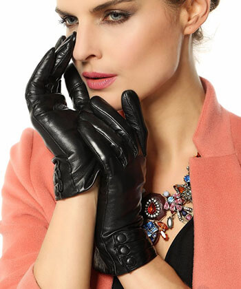 Warmen Warm Nappa Leather Gloves