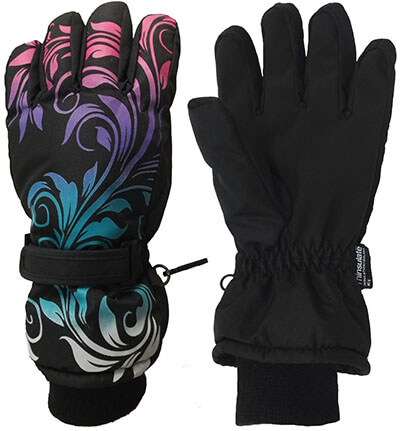 HighLoong Kids Waterproof Ski Winter Gloves