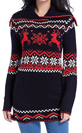 V28 3D Knit Deer Unicorn Jumper