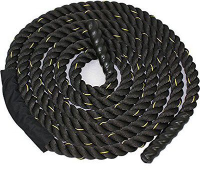 Poly Dacron Zeny Black 30ft Battle Rope