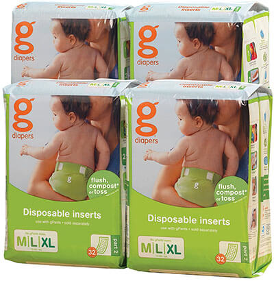 gDiapers Disposable Inserts Case