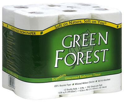 Green Forest Premium Recycled Bathroom Tissue