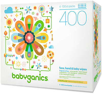 Babyganics Face, Hand and Baby Wipes
