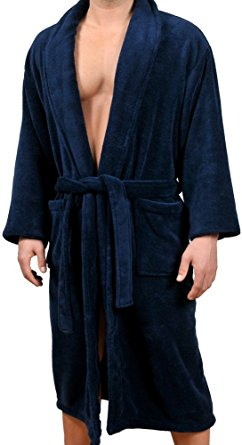Wanted Men's - Micro Fleece Bathrobe