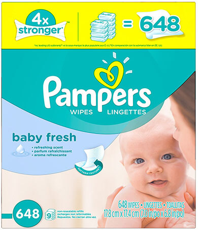 Pampers Fresh Baby Wipes 9X Refill
