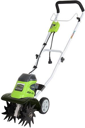 GreenWorks 27072 Corded Electric Garden Tiller