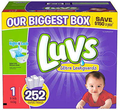 Luvs Size 1 252 Count Diapers