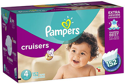 Pampers Cruisers Size 4 Economy Plus Pack Diapers