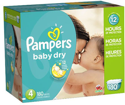 Pampers Baby Dry Size 4 Diapers