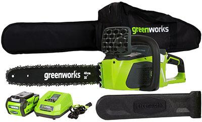 GreenWorks 20312 Cordless Chainsaw, G-MAX 40V