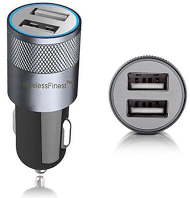 WirelessFinest Dual Port 3.1A USB Car Charger