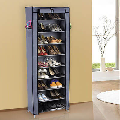 Songmics URXJ10G Shoe Storage Cabinet with Cover