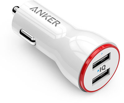 AnkerTwo Ports USB Car Charger - 24W