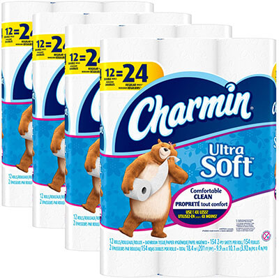 Charmin Ultra Soft Double Roll Toilet Paper