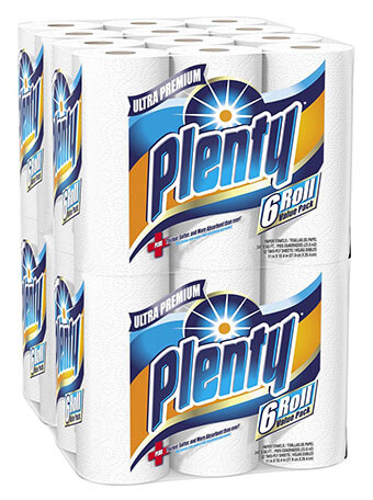Plenty Ultra-Premium White Paper Towels