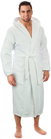 Hooded Terry Bathrobe Turkish linen