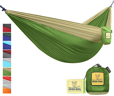 Wise Owl Outfitters Portable Lightweight Parachute Nylon Camping Hammock