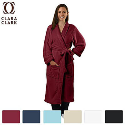 Clara Clark Microfiber, Lightweight Spa Bathrobe