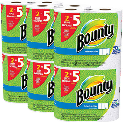 Bounty Select-a-size 12 Count Paper Towels