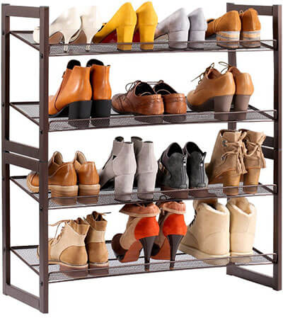 Langria Metal Mesh Best Shoe Rack Tower