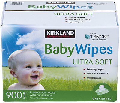 Kirkland Signature 13.8-Pound Baby Wipes