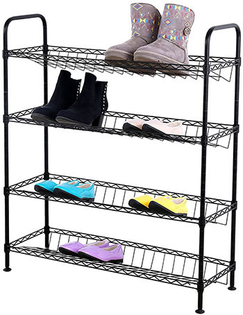 Songmics ULMR04P Metal Shoe Storage Cabinet