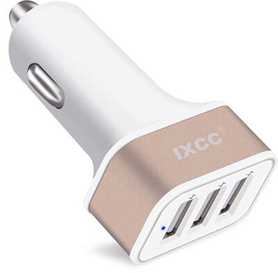 iXCC 3 Ports USB Car Charger, 36W / 7.2A Fast Charge Car Charger