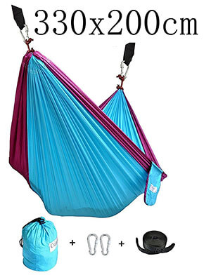 Cutequeen Traveling and Camping Double Nest Parachute Hammock