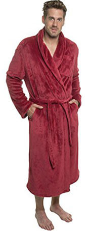Ross Michaels Men's Plush Shawl - Kimono Bathrobe Robe