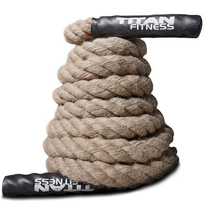 Titan Fitness Manila Hemp Battle Rope