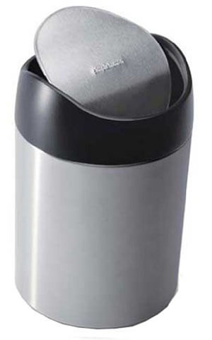 Simplehuman Countertop Brushed Stainless Steel Trash Can