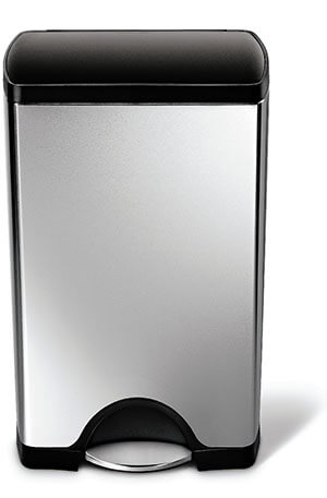 Simplehuman Rectangular Stainless Steel Step Trash Can