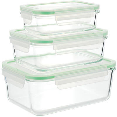 Kinetic GoGreen Rectangular Glass Storage Containers