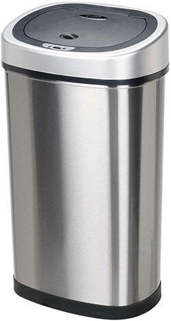 Ninestars BestOffice TC-1350R Stainless Steel Trash Can
